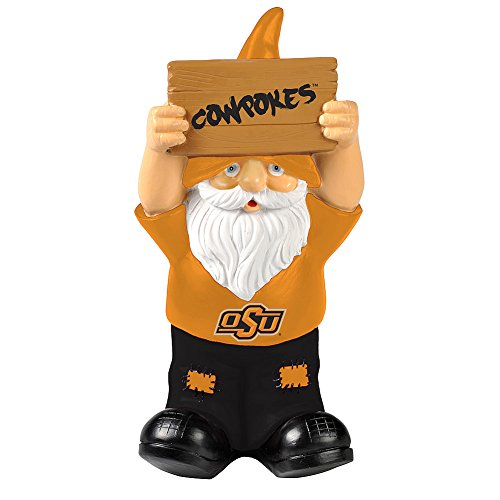Elite Fan Shop Oklahoma State Cowboys Garden Gnome - (Oklahoma State Cowboys University Fan)