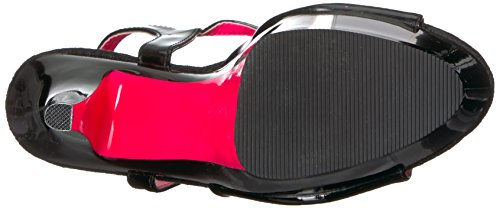 Patent Pink Pink H h Patent 209TT Sandal neon Black Black Blk Blk Neon Pleaser Kiss Women's UR1Pqa