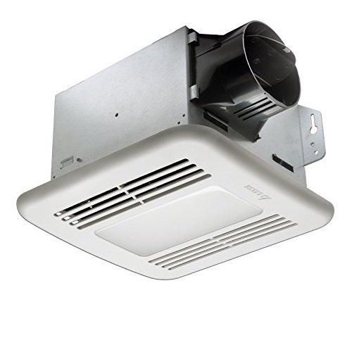 Delta Breez GreenBuilder GBR100HLED 100 CFM Exhaust Bath Fan/ Dimmable LED Light, Dual Speed And Adjustable Humidity Sensor