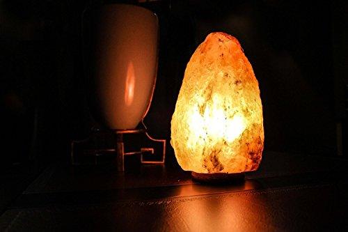 """JIC Himalayan Salt Lamps Halite Salt Lamp Ionic Air Purifier-6-8"""" Actual Shape"""