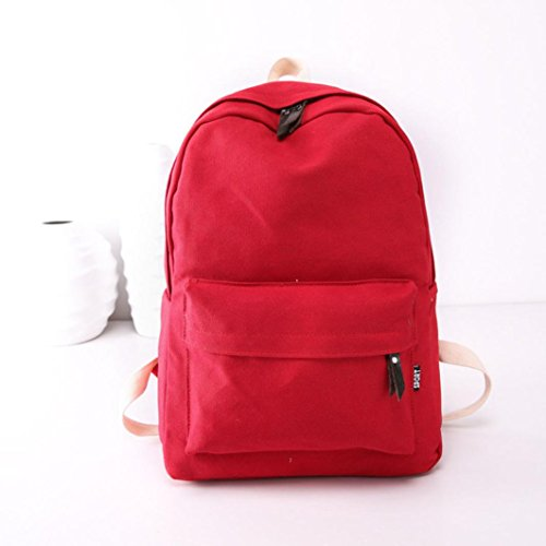 Preppy Backpack Pink Women AutumnFall New Girls Bag 2017 Fashion Red Girls Bookbags Travel Canvas wFq8H4