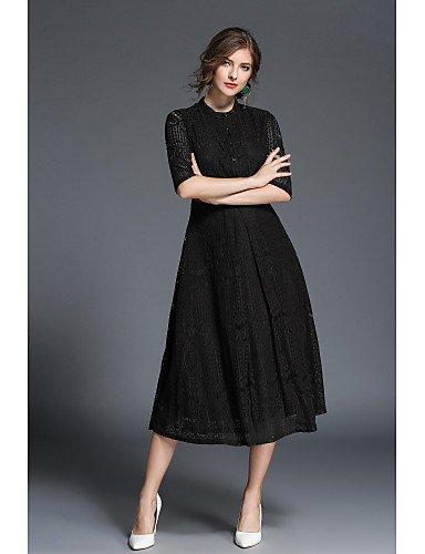 JIALE3536 Vestido Fiesta Mujer,De Fiesta Partido De La Mujer Un Vestido De Línea Negro