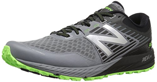 New Balance Men's 910V4 Running Shoe, Gunmetal/Energy Lime, 10 2E US (Running Gun)