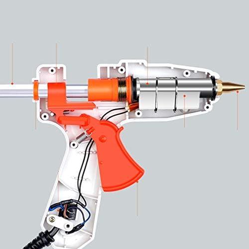 Minmin 30/60の接着剤が付いているホットメルトの接着剤銃は50 / 80W二重力DIYの手動処理項目およびシーリングおよび速い毎日の維持、白い棒を付けます ミニ (Color : B, UnitCount : 30 glue sticks)