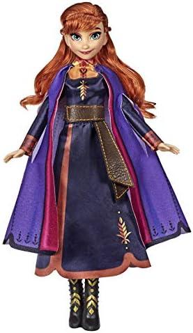 Hasbro Disney Die Eiskönigin Singende Anna Puppe mit Musik in lila Kleid zu Disneys Die Eiskönigin 2, Spielzeug für Kinder ab 3 Jahren