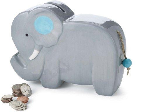Mud Pie Ceramic Elephant Piggy Bank (Gray) (Mud Pie Girls Banks compare prices)