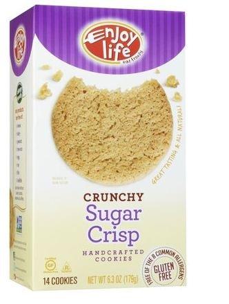 Enjoy Life Crunchy Sugar Crisp Cookies - 6.3 oz (Pack of 12)