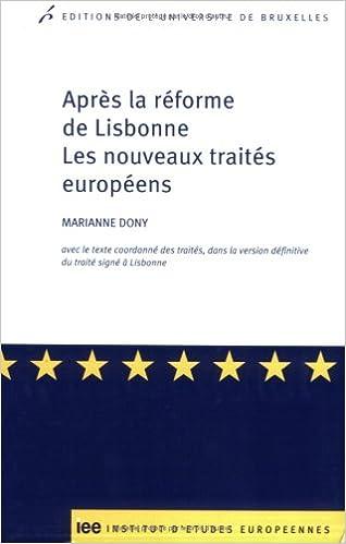En ligne téléchargement gratuit Après la réforme de Lisbonne : Les nouveaux traités européens pdf ebook