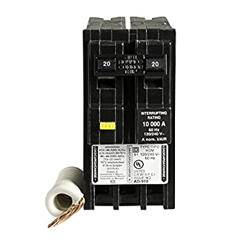 Square D by Schneider Electric HOM220GFIC Homeline 20 Amp Two-Pole GFCI Circuit Breaker, ,