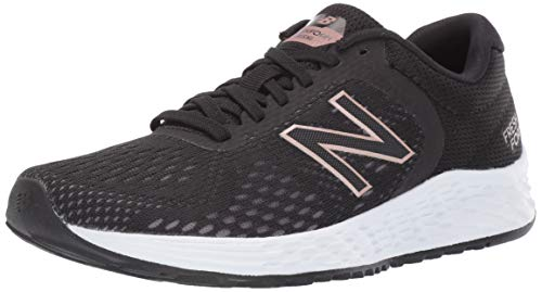 New Balance Women's Arishi V2 Fresh Foam Running Shoe, Black/Rose Gold, 8 W US