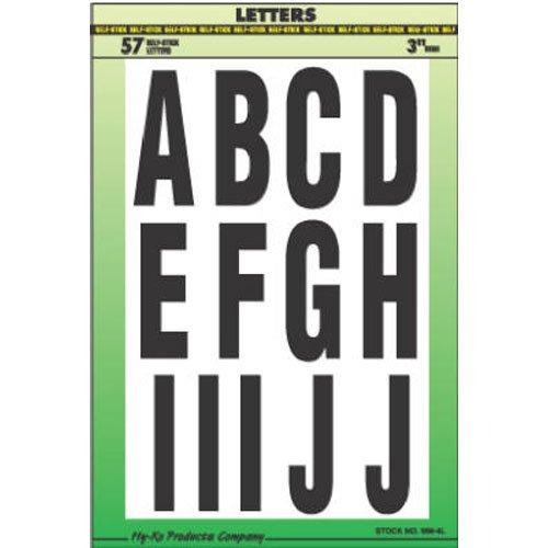 Hy-Ko MM-4L Vinyl Self-Stick Letters, 3