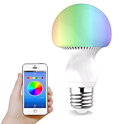 The Street 5 Watt Bluetooth Smart LED Light Bulbs(E27),Multicolored led lights-Smartphone Controlled Dimmable Multicolored Color Changing Lights - Works with iPhone, iPad, Android Phone and Tablet