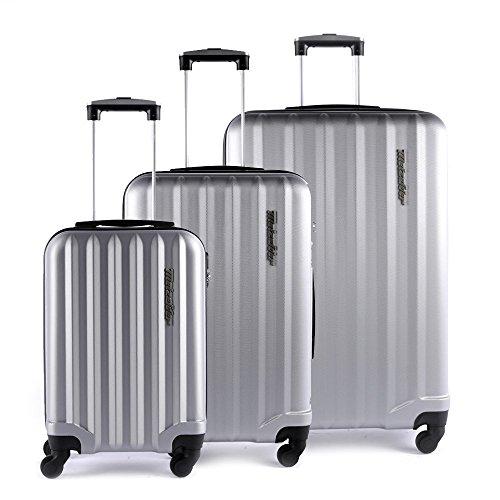 3 Lotto ruote rigide Metzelder di 4 valigie 1qgwRZnPqz