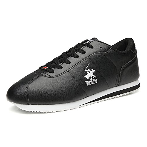 Beverly Hills Polo Club Mens Fashion Sneakers Leather Casual Walking Shoes Sports Running Lightweight Athletic Training Shoes