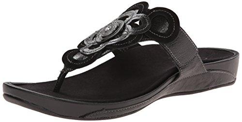 Candace Black Women's Aetrex Thong Sandal Sgn5q