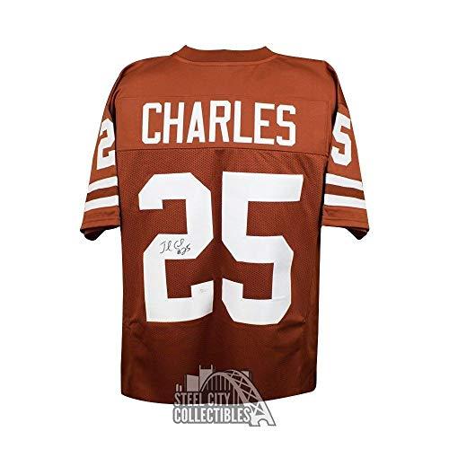 ecaff80e714 Jamaal Charles Autographed Signed Texas Longhorns Custom Orange Football  Jersey .