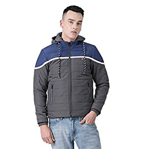 Monte Carlo Blue Solid Polyester Hood Jacket