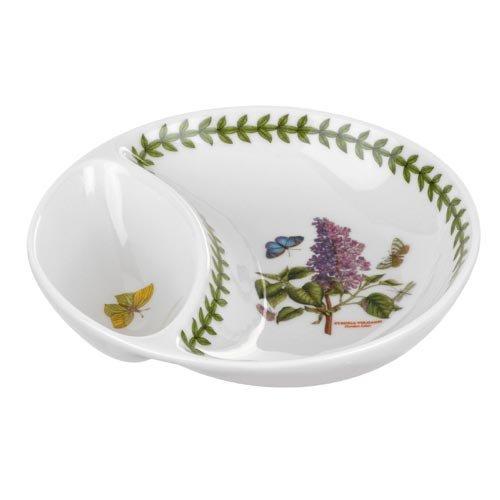 Portmeirion 612716 Botanic Garden Divided Dish, 6'', 6'', White