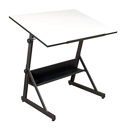 Studio Designs 13344 Solano Adjustable Height Drafting Table, Charcoal/White by Studio Designs
