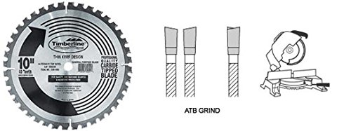 eneral Purpose and Finishing 10-Inch Diameter by 80-Teeth by 5/8-Inch Bore, ATB Grind Thin Kerf Carbide Tipped Saw Blade ()