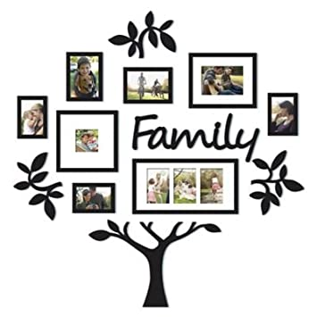 Amazoncom Wallverbs 13 Piece Family Tree Set In Black Baby