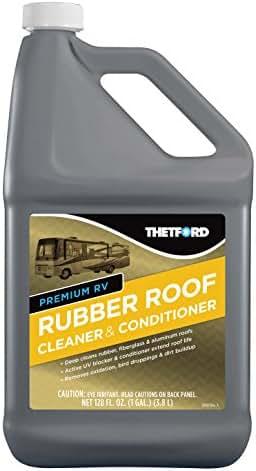 Thetford Premium RV Rubber Roof Cleaner & Conditioner Toxic-Non-Abrasive-Biodegardable-1 Gallon 32513, 128. Fluid_Ounces