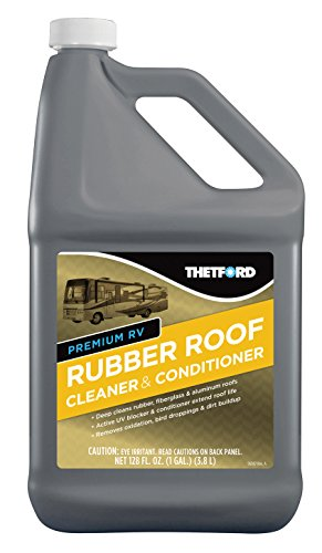 Thetford 1 gal Premium RV Rubber Roof Cleaner & Conditioner Toxic-Non-Abrasive-Biodegardable-1 Gallon 32513