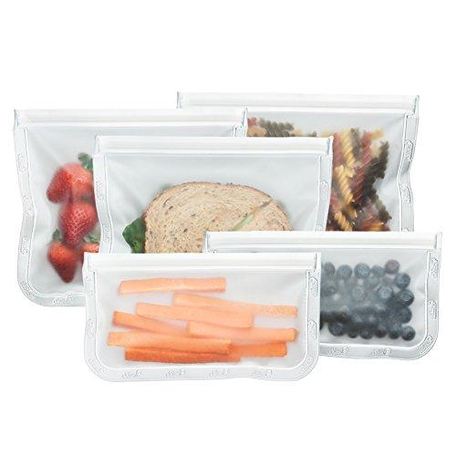 (BlueAvocado Re-Zip Seal Reusable Storage Bag Kit (Pack of 5))