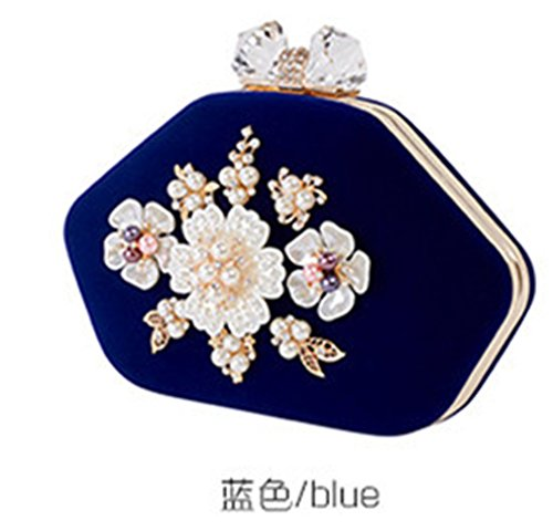 Evening blue Wedding Clutch Bag Party Women Bag Diamond Cheersame Handbag Women Bag Purse 7ZTtq
