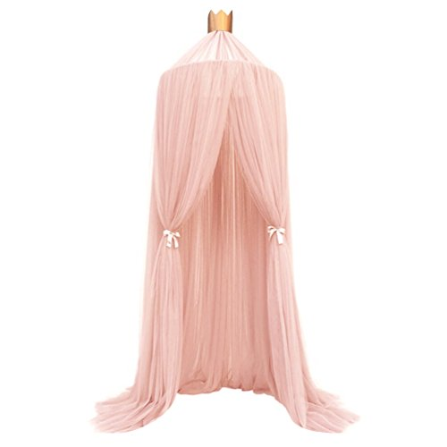 Uarter Baby Dome Bed Canopy Mesh Gauze Kids Bed Mosquito Net Decorative Baby Crib Curtain Baby Cribs Other Beds, Pink