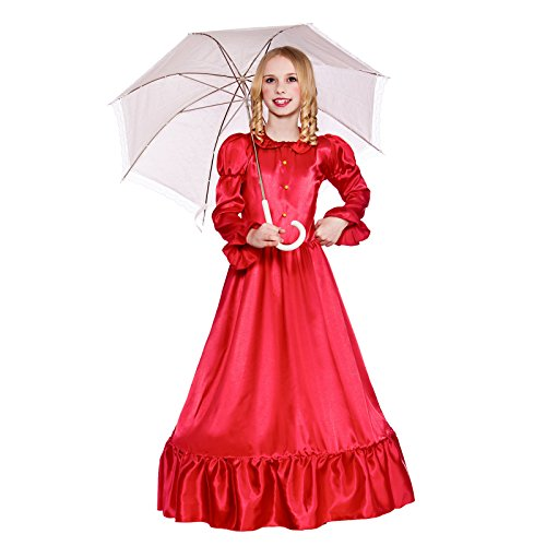 Girls Deluxe Victorian Lady Fancy Dress Up Party Costume Halloween Child Outfit (Victorian Halloween)