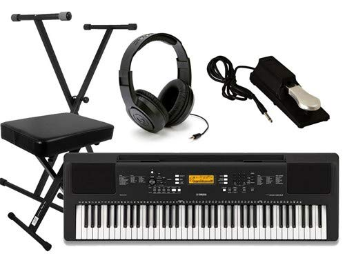 Yamaha PSR-EW300 Ultimate Portable Keyboard Package with Headphones, Stand,Bench, and Sustain Pedal ()