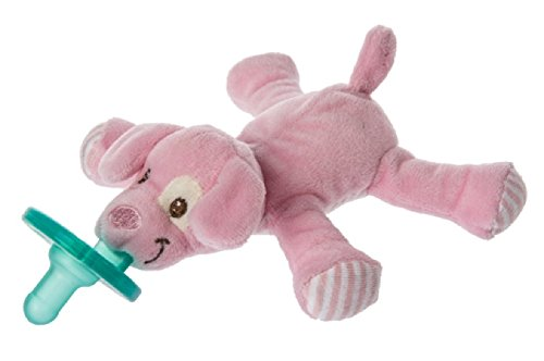 Mary Meyer Puppy WubbaNub Soft Toy and Pacifier, Pink