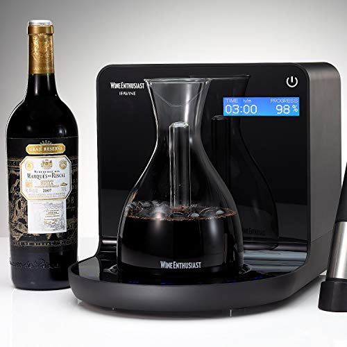 Wine Enthusiast iSommelier Smart Electric Wine Decanter - Reduces Decanting Time...