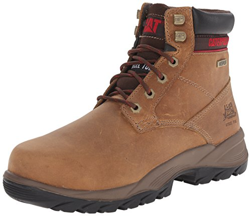 Caterpillar Women's Dryverse 6 Inch Waterproof Steel Toe Work Boot, Dark Beige, 6.5 M US by Caterpillar