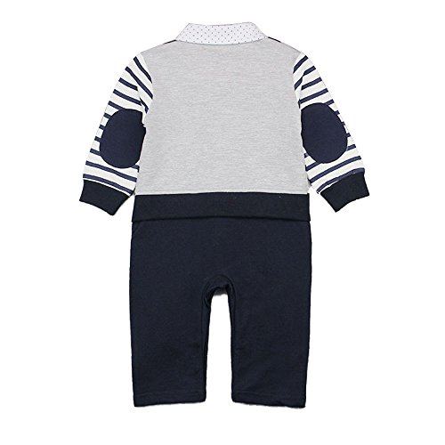 Baby Boy Romper, 1Pcs Toddler Gentleman Formal Outfit Set with Suit Vest & Bowtie