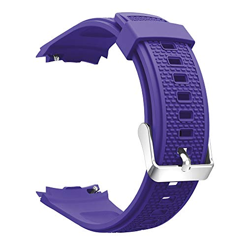 LEERYAAY Soft Silicone Watch Band Bracelet Wrist Strap Replacement for Huawei Watch 2 Purple