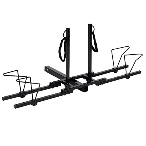 Super buy Upright Heavy Duty 2 Bike Bicycle Hitch Mount Carrier Platform Rack Truck SUV