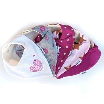 Amazon.com: Lovjoy Baberos Bandana – Pack de 5 chica diseños ...