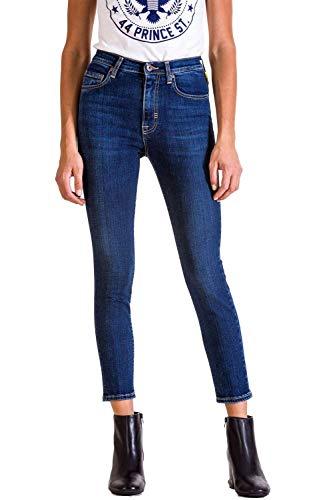 D0142 Vita Vestibilità Meltin'pot Mareg Donna Per Alta uk115 Affusolato Blue Denim Modello Jeans Skinny ww8fEv