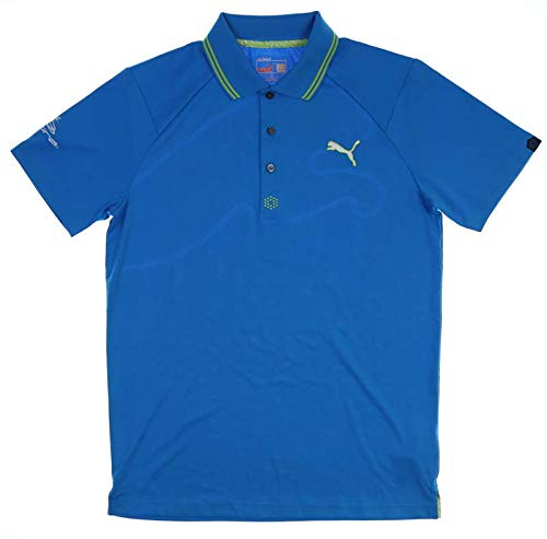 (PUMA New Tour Issue Player Mens Cat Jacquard Polo Small S Blue Aster 565504 01)