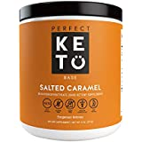 Perfekt Keto Salted Caramel Exogenous Ketones: Base BHB Salts Supplement. Ketones for Ketogenic Diet Best to Support Energy, Focus and Ketosis Beta-Hydroxybutyrate BHB Salt