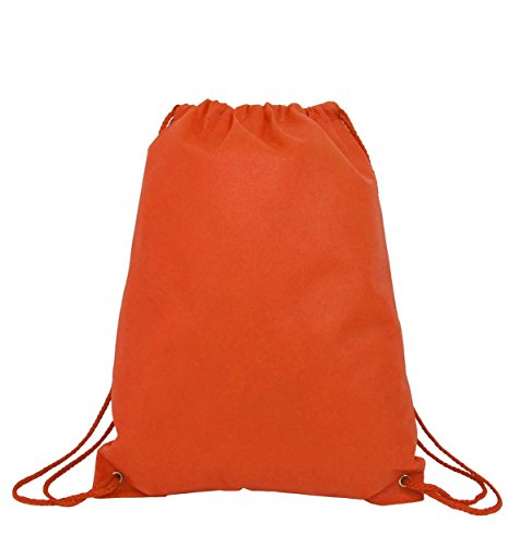 100 PACK - Multipurpose Non Woven Well Made Drawstring Backpack Bags by BagzDepot