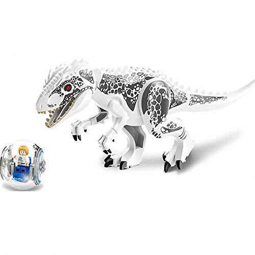 JVNVDS 11.2 Big Dinosaur with Ball Car and Minifigure, Tyrannosaurs Rex Action Figure Building Blocks Toy, Safe to Play, 11.2 5.7, Kids Gift