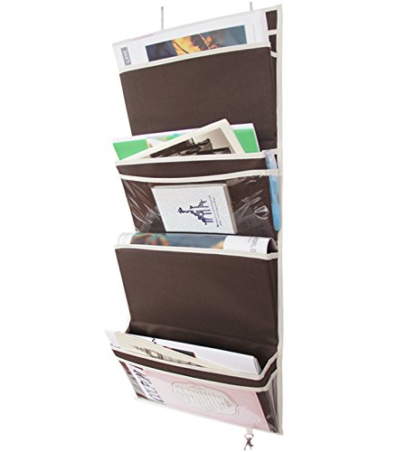 misslo mail organizer wall mount over the door magazine 4pockets coffee new ebay. Black Bedroom Furniture Sets. Home Design Ideas