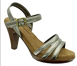 Pierre Dumas Women's Ada 4 Sandals( 6 B(M) US)  Pewter Steel