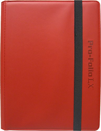 (3) Red Trading Card Binders - BCW Brand - 9-Pocket Pro-Folio - LX - #BCW-PF9LX-RED by Square Deal Recordings & Supplies