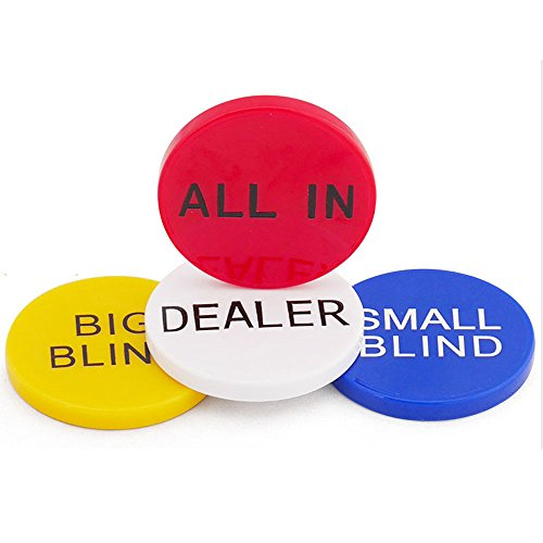 Poker Button (SmartDealsPro 4pcs Small Blind, Big Blind, Dealer and ALL IN Poker Buttons)