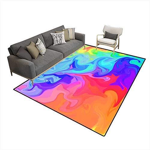 - Kids Carpet Playmat Rug Colorful Digital Acrylic Color Swirl Or Similar Marble Twist 6'x7' (W180cm x L210cm
