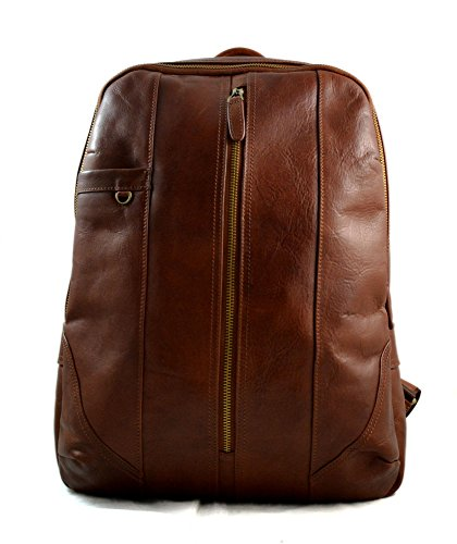 Leather backpack genuine leather brown travel bag weekender sports bag gym bag leather shoulder ladies mens satchel light big backpack by ItalianHandbags